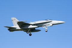 F-18 Hornet jet fighter Royalty Free Stock Images