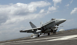 F-18 Hornet landing Royalty Free Stock Images
