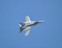 F-18 Hornet sideways Royalty Free Stock Photography