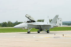 F-18 on the Runway. An F-18 on the Runway after landing Stock Image