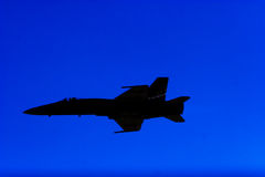 F-18 Silhouette Royalty Free Stock Photography