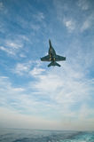 F-18 Super Hornet. Preparing to land aboard CVN-69 Royalty Free Stock Photography