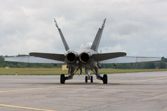 F/A-18 taxi?end voor start Royalty-vrije Stock Afbeelding