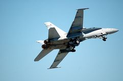 F/A-18C Hornet. Photographed an F18 fighter jet at an air show in Florida Royalty Free Stock Photos