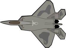 F-22 het Vliegtuig van de roofvogel royalty-vrije illustratie