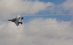 F-22 Raptor. The state of the art US Air force F-22 Raptor fighter jet in flight stock photography