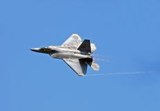 F-22 Raptor. State of the art US Air force fighter jet in flight Stock Photo