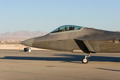 F-22 Raptor. Jet during airshow stock images