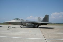 F-22 Raptor. F-22 picture taken at local airsshow stock photo