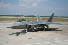 F-22 Raptor. F-22 picture taken at local airsshow stock photography