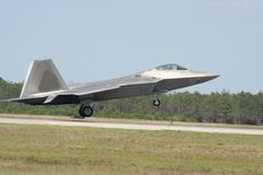 F-22 Raptor. Raptor picture taken at a local airshow stock photo