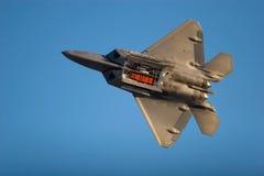 F-22 Raptor fighter jet. F-22 Raptor jet airplane during airshow stock photos
