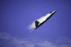 F-22 Raptor in flight over Hawaii Stock Image