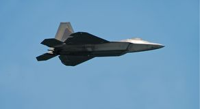 F-22 raptor jet fighter. State of the art stalth fighter from the US Air Force royalty free stock images