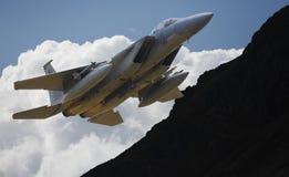 Στρατιωτικό F15 αεριωθούμενο αεροπλάνο Στοκ Εικόνες