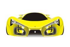 黄色法拉利f80跑车传染媒介  免版税库存照片