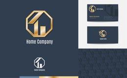 Вектор: Комплект логотипа дела дома, визитной карточки и картины f Стоковые Фотографии RF