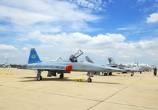 F-5E was showed in Cerebration of 100 year Royalty Free Stock Photo