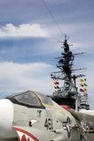 F-8 Crusader aboard the USS Midway Stock Photos