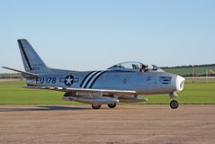 F-86A Sabre taxis for takeoff Royalty Free Stock Photography