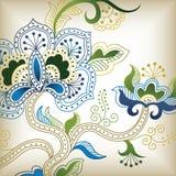 f abstrait floral illustration de vecteur