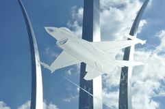 F-16 and the Air Force Memorial Stock Images
