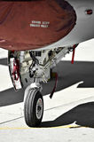 F16 aircraft detail with landing gear Stock Photography