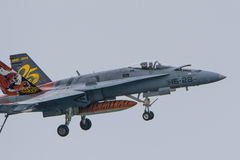F18, Ala 15, Spanish Air Force. Royalty Free Stock Images