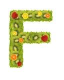 f alfabet owoców Obrazy Stock