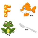 F alphabet cartoon Royalty Free Stock Photography