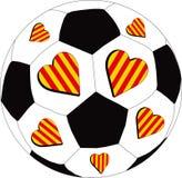 F amarilla y roja del corazón C ilustración del vector