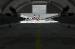F 35, amerikanisches Militärkampfflugzeug Militay-Basis, Hangar, Bunker Lizenzfreies Stockbild