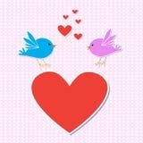 fågelförälskelse stock illustrationer