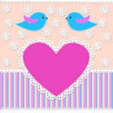 fågelscrapbook Royaltyfria Bilder
