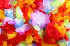 färg blommar textilen arkivfoto