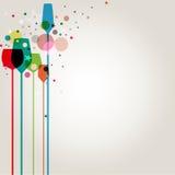 färgrik cocktail party arkivbilder