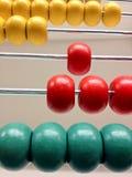 färgrik dator för kulram past Arkivfoto