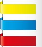 färgrik design för broschyr Arkivbilder