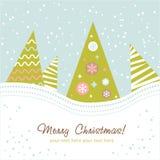 färgrik designtree för jul Royaltyfria Bilder
