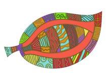 färgrik olik leafmodell stock illustrationer