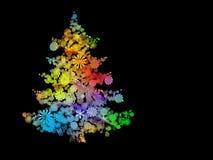 färgrik tree för jul Arkivfoto