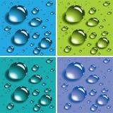 färgrikt droppvektorvatten Royaltyfri Foto