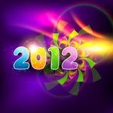 färgrikt lyckligt nytt år Royaltyfri Fotografi