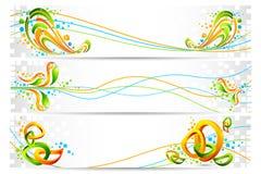 färgrikt tricolor för baner royaltyfri illustrationer