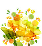 färgstänk för orange för fruktsaftcitronlimefrukt Arkivbilder