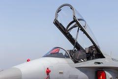 F -16, avi?o de combate militar tailand?s Jet Plane clonado para fora algumas dos n?meros e das etiquetas da unidade a fim impedi imagens de stock royalty free
