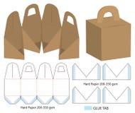 Box packaging die cut template design. 3d mock-up. A Box packaging die cut template design. 3d mock-up stock illustration