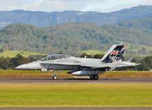 F-18B Hornet  Aircraft Royalty Free Stock Photo