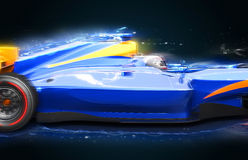 F1 bolide with light effect Stock Image