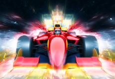 F1 bolide with light effect Stock Photography